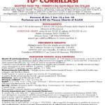 CORRILASI 2014 10A EDIZIONE Non Competitiva volantino