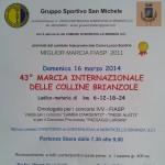volantino marcia internazionale delle colline brianzole 2014 pag1