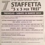 volantino staffetta 3x3 per trei 7a edizione 2014