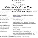 volantino palestra california run molinetto di mazzano 5 aprile