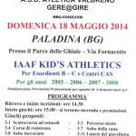 volantinio iaaf kid's athletics 2014