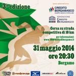 volantino Diecimila citta di Bergamo 2014