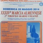 volantino XXXIV marcia almennese 2014