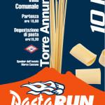 volantino corsa podistica pasta run 2014