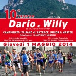volantino  dario e willy skyrace 2014