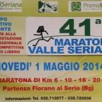volantino maratona della valle seriana 2014