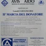 volantino marcia del donatore 2014