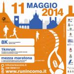 volantino mezza maratona run in como 11 maggio 2014