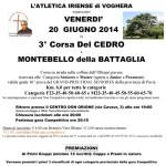 Volantino Corsa Del Cedro 2014 Montebello della battaglia