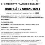 volantino camminata sapore d'Estate Cassano magnago 17 giugno 2014