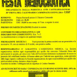 volantino corsa podistica a Castel Bolognese giugno 2014