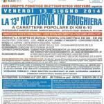 volantino La 13a Notturna in Brugheria vigevano