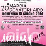 volantino marcia donatori aido caprino 2014