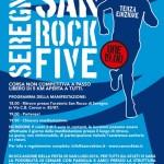 volantino corsa podistica non competitiva san rock five 2014