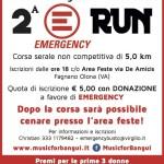 volantino corsa podistica emergency run 2014