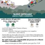 volantino endurance run bienno luglio 2014