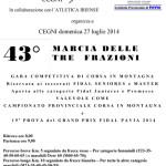 volantino marcia delle tre frazioni - Cegni 2014