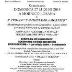 volantino marcia Mornico Losana luglio 2014