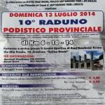 volantino 10o raduno podistico provinciale santomobono