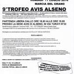 volantino corsa podistica Avis Alseno 2014