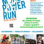 volantino monza power run 2014