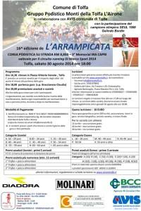 volantino arrampicata 2014 tolfa