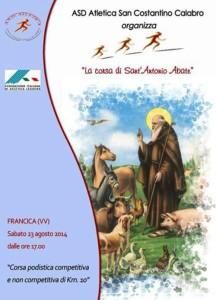 volantino corsa di sant antonio abate 2014 francica