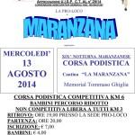 volantino corsa podistica notturna maranzanese 2014