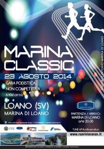 volantino corsa podistica marina classic 2014 loano