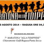 volantino maratona alla fidippide 2014 ragusa