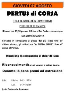 volantino pertus di corsa costa Imagna 2014