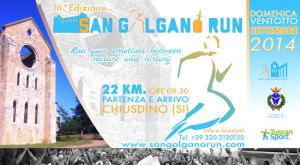 volantino corsa san galgano run 2014