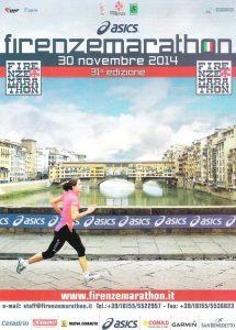 volantino maratona di firenze 2014