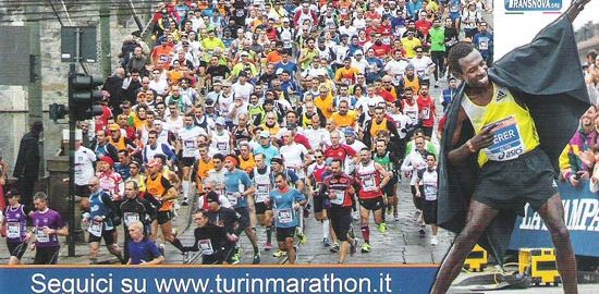 volantino maratona di torino 2014