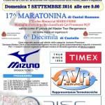 volantino maratonina castel rozzone 2014