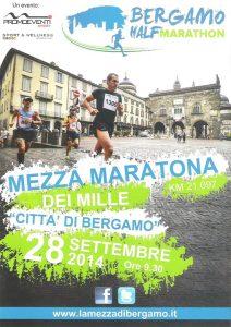 volantino mezza maratona dei mille 2014 bergamo
