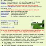 volantino terza marcia del palio 2014 a Teglio Veneto
