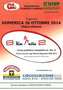 regolamento corsa 8 km alla 2 a torino 2014