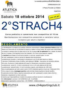 volantino corsa strach4 2014