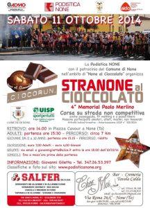 volantino corsa stranone al cioccolato 2014