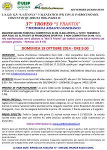 volantino corsa trofeo 5 frantoi 2014