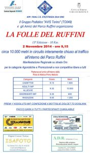 volantino corsa la folle del ruffini 2014 Torino