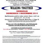 volantino camminata walking together 2014 a Somaglia (LO)