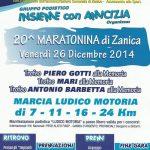 volantino maratonina di zanica 2014