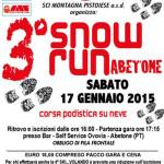 volantino 3a snow run abetone 2015