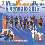volantino mezza maratona sul brembo 2015