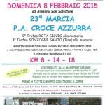 volantino 23a marcia croce azzurra febbraio 2015