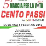 volantino 5a marcia per la vita febbraio 2015