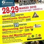 volantino 6o skyrunning del canto 2015