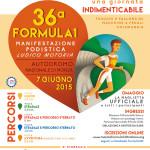 Volantino corsa podistica formula 1 2015 autodromo di monza